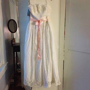 Vintage 1970s wedding gown / sundress